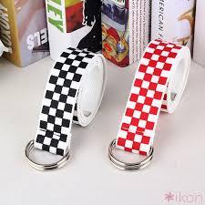 ikon   Gesper Harajuku <b>Checkerboard</b> Couple <b>Belt Plaid</b> Long ...