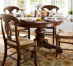 kitchen pedestal dining table set: tivoli extending pedestal dining table pottery barn