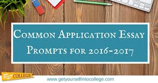 Common Application Essay Prompts for          Dr  Jennifer B     Common Application Essay Topics for