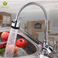 Mrosaa <b>360 Degree Rotation Kitchen</b> Faucet Solid Brass Pull Tap ...