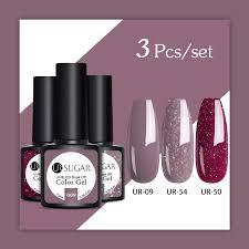 UR SUGAR <b>3pcs</b>/<b>set</b> 7.5ml <b>Gel Nail Polish</b> Soak Off UV LED Nail ...