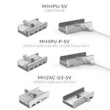 <b>ORICO</b> Aluminum <b>4</b> Ports USB 3.0 Clip HUB with Power Supply ...