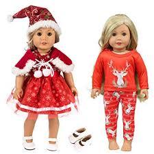 ZITA ELEMENT 2 <b>Sets</b> American Doll Girl <b>Christmas Clothes Dress</b> ...