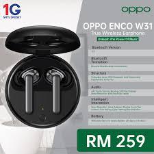 <b>Oppo Enco</b> W31 – <b>Original</b> Malaysia Set – Satu Gadget Sdn. Bhd.