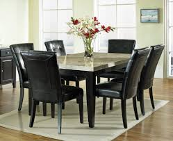 Genuine Leather Dining Room Chairs Dining Monarch 7 Piece Marble Top 70x42 Dining Room Set 1 Bedroom