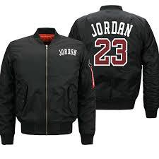 Jordan 23 <b>Men's Thick Jackets</b> Printed <b>Male</b> Coats Fashion ...