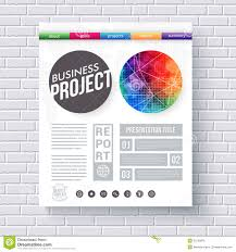 business project title page vector template stock vector image artistic design template for a business project royalty stock image
