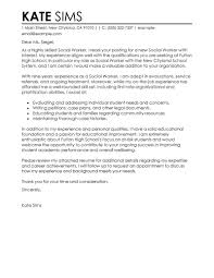 social worker cover letter example perfect cover letter examples
