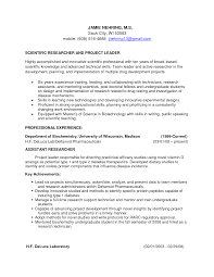 research assistant resume resume badak research scientist resume sample