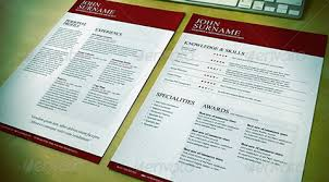 resume templates and designs that get job interviewsa clean  elegant red and white resume template