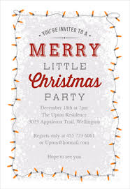 printable christmas invitation templates  greetings island a merry little party