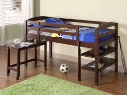 brown wooden boys loft bed bunk beds kids loft