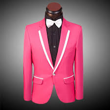 HOT! /pink! <b>Red</b> /<b>blue</b> /yellow men suit (<b>Jacket</b> + pants) male <b>tuxedos</b> ...