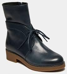 <b>Высокие ботинки</b> женские ALFA (цвет синий, натуральная кожа ...