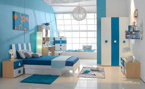 white and blue girls bedroom with wooden furniture blue and white furniture