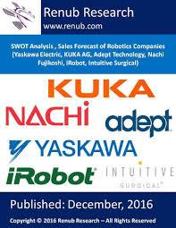 company research reports industry analysis reports swot analysis s forecast of robotics companies yaskawa electric kuka ag adept technology nachi fujikoshi irobot intuitive surgical