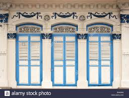 Decorative Windows For Houses Close Up Of Traditional Old Houses With Shuttered Windows And