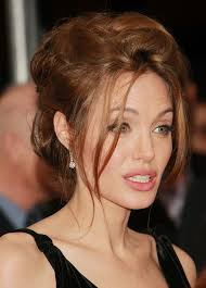 Angelina Jolie - 2017 Dark Brown hair & updo hair style. Current length:  medium long hair