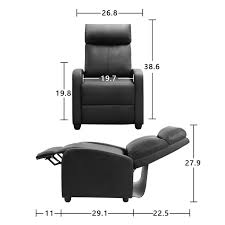 Walnew Single <b>Massage Recliner</b>, <b>Black Faux</b> Leather - Walmart ...