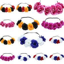 <b>hot</b> sell new rose Hairband Wreath Hair Bows <b>Bohemia Handmade</b>