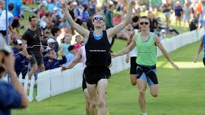 Adelaide runner Michael Nitschke wins the 800m men's final at Colley Reserve, Glenelg. Picture: Greg Higgs. Source: The Advertiser - 313634-michael-nitschke