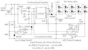 12v led driver circuit diagram 12v image wiring white led driver circuit diagram the wiring diagram on 12v led driver circuit diagram