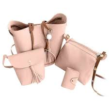 2019 <b>4 Pcs</b>/<b>Set</b> Ladies Shopping Bags Handbag Fashion Women ...
