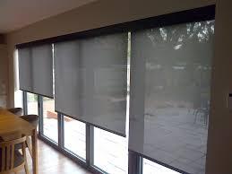 sliding door internal blinds showroom