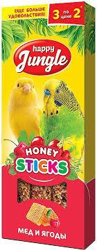 Лакомство <b>Happy Jungle палочки для</b> птиц - купить в ЮниЗоо в ...