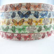 15mm Butterfly Cotton Fabric DIY <b>Ribbon</b> for Scrapbooking Craft ...
