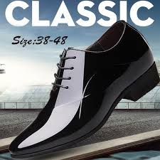 Fashion Men's Formal <b>Pointed Toe Lace</b>-up Dress Shoes - Black ...