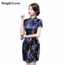 <b>New Chinese Dress Vestidos</b> Mujer Women's Silk Satin Cheongsam ...