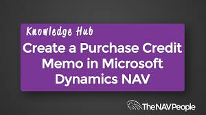 create a purchase credit memo create a purchase credit memo