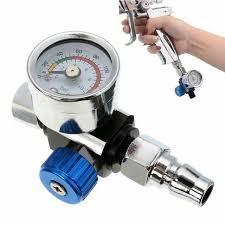 """1/4"""" <b>Mini Air Regulator Valve</b> Tool Tail Pressure Gauge & Nozzle For ..."""