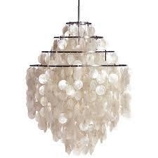 large white fun 0 dm shell capiz ceiling light pendant chandelier by verner panton capiz shell lighting fixtures