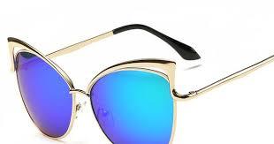 Fashion Cat Eyes <b>Eyeglasses Women</b> Mirror Lenses <b>Sunglasses</b> ...
