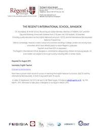 other by the regent amp    s international school   issuujob description secondary english teacher