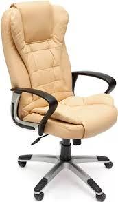 Офисное <b>кресло Tetchair BARON</b> (<b>кож/зам</b>, бежевый/бежевый ...
