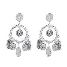Qiopes New Women Fashion <b>Earrings</b> Jewelry <b>Trendy Round</b> ...
