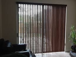 large sliding patio doors: sliding glass door vertical blinds wm homes