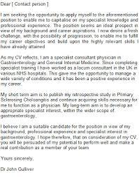 Medical Doctor Cover Letter Sample medical doctor cover letter sample