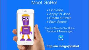 how to a job facebook messenger gobe the job how to a job facebook messenger gobe the job search bot