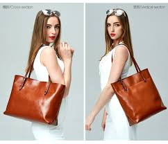 <b>Women's Genuine Leather Tote</b> Shoulder Bags – Luxy Moon