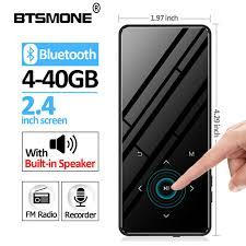 Btsmone <b>new</b> 2.4 inches touch screen <b>slim mp3 player</b> Built in ...