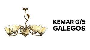 <b>Люстра</b> потолочная в виде цветов 5 рожков Kemar G/5 GALEGOS ...