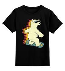 """выбрать детские футболки с необычными принтами """"snowboard"""""""