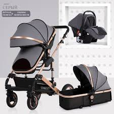 Baby <b>Stroller 3</b> in <b>1</b> neonatal baby carriage <b>high</b> landscape <b>pram</b> ...