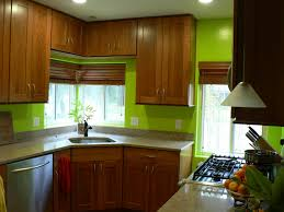kitchen emulsion paint: gray charcoal with green walls in kitchen and dark stained wood