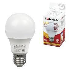 85 ₽ — <b>Лампа светодиодная SONNEN</b>, 10 (85) Вт, цоколь <b>Е27</b> ...