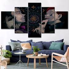Canvas Painting <b>5 Piece</b> Hunter x Hunter Hisoka Anime Poster ...